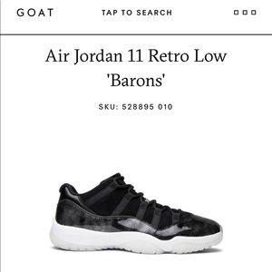 reputable site 0346f d015a Jordan Shoes - Air Jordan 11 Retro Low Barons